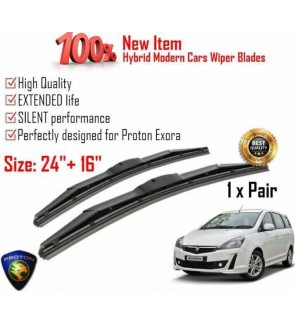 """100% High Quality Rubber Car Wiper Size (24"""" + 16"""") 1 Pair For Proton Exora"""