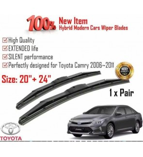 """100% High Quality Rubber Car Wiper Size (20"""" + 24"""") 1 Pair For Toyota Camry 2006-2011"""