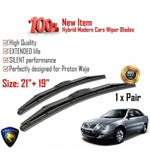 """100% High Quality Rubber Car Wiper Size (21"""" + 19"""") 1 Pair For Proton Waja"""