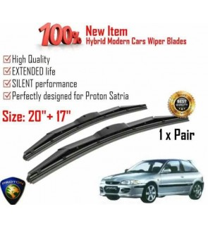 """100% High Quality Rubber Car Wiper Size (20"""" + 17"""") 1 Pair For Proton Satria"""