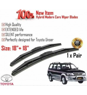 """100% High Quality Rubber Car Wiper Size (18"""" + 18"""") 1 Pair For Toyota Unser"""