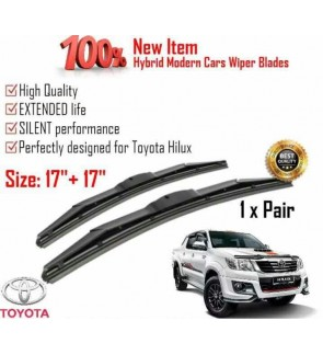 """100% High Quality Rubber Car Wiper Size (17"""" + 17"""") 1 Pair For Toyota Hilux"""