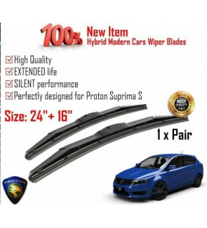"""100% High Quality Rubber Car Wiper Size (24"""" + 16"""") 1 Pair For Proton Suprima S"""