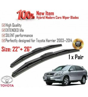 """100% High Quality Rubber Car Wiper Size (22"""" + 26"""") 1 Pair For Toyota Harrier 2003-2014"""
