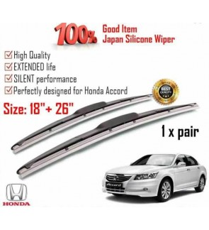 """100% Japan Silicone Car Wiper Size (26"""" + 18"""") 1 Pair For Honda Accord"""