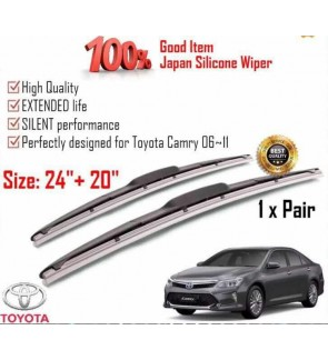 """100% Japan Silicone Car Wiper Size (24"""" + 20"""") 1 Pair For Toyota Camry 2006~2011"""