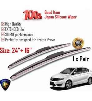 """100% Japan Silicone Car Wiper Size (24"""" + 16"""") 1 Pair For Proton Preve"""