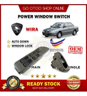 OEM Fitting Proton Wira Main Power Window Switch Single Passenger Switch 100% Made in Malaysia