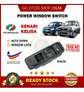 OEM Fitting Perodua Kelisa / Kenari Main Power Window Switch